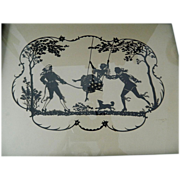 SOLD Exquisite- Silhouette picture- Artist signed