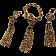 1940-1950's- dangling-Chain earrings and Bracelet