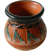 Native American-hand made and painted-Navajo clay Pot