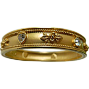 signed- Elizabeth Taylor- jeweled bangle Bracelet
