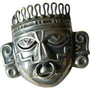 sterling- Tribal face-Pin