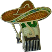 Mexico- sterling and Enameled-Pin