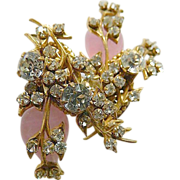 SOLD Extraordinary- jeweled -Miriam Haskell  signed Earrings