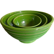 set of 3-1920-1930's Mixing bowls