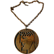 signed Rebajes- pendant with Heavy chain