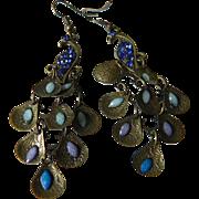 Jeweled-Peacock dangling-Earrings