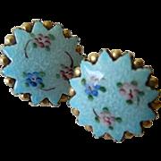 1930-1940's Enameled Earrings