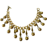Wonderful- vintage-Book Chain dangling baubles-Bracelet