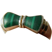 Sterling and Malachite ring