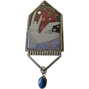Unique artists' made Inlaid pin
