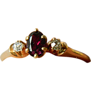 14k Garnet-diamonds-Ring