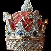 SALE Jeweled Crown-Trinket/ring Box