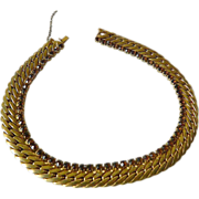 Amazing- heavy Sterling silver choker Necklace-1940's