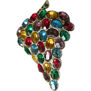 Brilliant-1900-1910- glass stone Dress clip