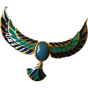 "SALE ""Jewel of the Nile""- enameled Egyptian style Necklace"