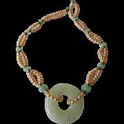 Elegant jade/jadeite -natural pearls Necklace