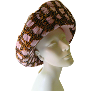SALE Feathers and wool- Designer Jack McConnell Hat-SALE before removal
