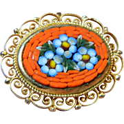 Italian made mosaic Pin