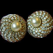 SALE Glamorous and bold-KJL-Kenneth J. Lane jeweled Earrings