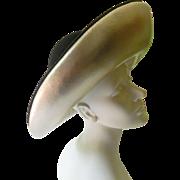 SALE Elegant leather and wool felt designer Hat-SALE before removal!