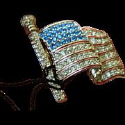 Sparkling Swarovski-American flag pin