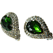 Bold and dazzling- Glass stone earrings
