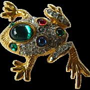 jeweled Frog pin