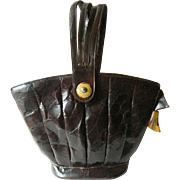SOLD Alligator and leather-1920-1930's Handbag