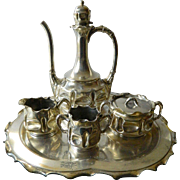 SALE 1850-1899 Victorian tea set- Pairpoint heavy silver plate