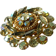 1960's-Sparkling glass stones-Pin