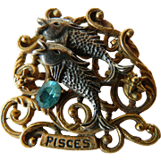 Zodiak sign- Pisces- pin-signed Art