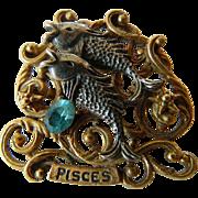 Zodiak sign- Pisces- pin-signed Art