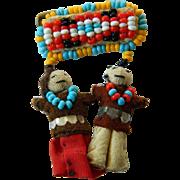 Charming-Native American-beaded Pin