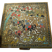 Volupte- compact-enameled & etched-Persian motif