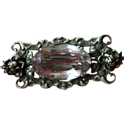 Germany- Sterling pin with Large glass stone