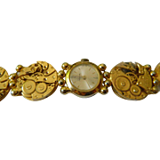 Wrist watch made of various Watch inner works by Schiaparelli