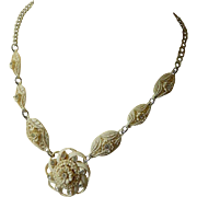 Lovely molded Celluloid necklace