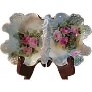 SALE Hand Painted Jean Pouyat Limoges Basket/Candy Dish