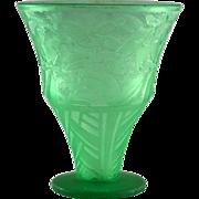 "Daum Nancy ""Olives"" Pattern Vase"