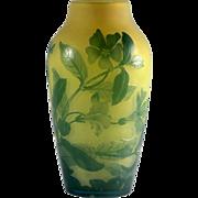 Gallé Acid Etched Cameo Vase