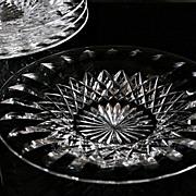 """SOLD Webb Corbett """"Cardinal"""" Pattern Crystal Desert Plates"""