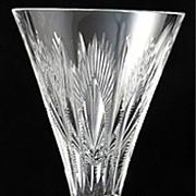 """SOLD Stuart """"Medici"""" Pattern Crystal Sherry Glass"""