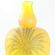 Devez Palm Tree Pattern Cameo Vase