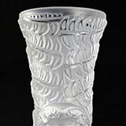 "SOLD Lalique ""Psyche"" Crystal Bud Vase"