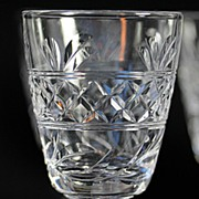 """Stuart """"Imperial"""" Pattern Crystal Cordials with Ball Stems"""
