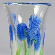SOLD Orient & Flume Iris Vase by Bruce Sillars