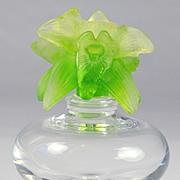 SOLD Daum Orchid Pattern Perfume Bottle