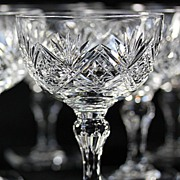 SOLD Thomas Webb Square Base Champagne Coupes