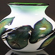 SOLD Jeremiah Lotton Cased Glass Vase