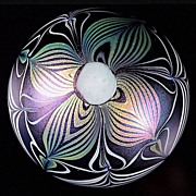 SOLD Vandermark Iridescent Pulled Pattern Paperweight